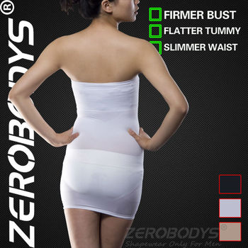 ZEROBODYS Incredible Womens Body Shaper Slimming Tube Dress 005 WH Bodysuit Women Butt Lifter Slimming Underwear for Women