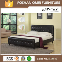 SS8613 Omir furniture 2016 spring modern kind size PU bed for furniture set