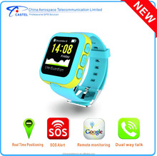 Children GPS watch with sim card real time tracking by google maps SOS emergency