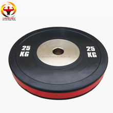 Top Grade Gym Color ring Black Competition Bumper Rubber Weight Plate