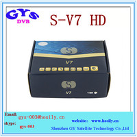 S V7 S-V7 Digital Satellite Receiver Support 2xUSB WEB TV USB Wifi 3G Biss Key Youporn CCCAMD NEWCAMD
