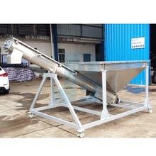 Stainless steel shaftless inclined screw auger conveyor for powder