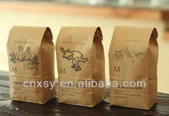 2013high quality &colorful printing kraft coffee bag
