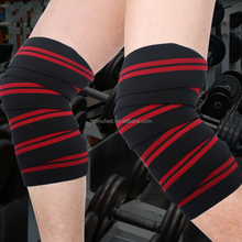 ZRWK41 Experienced manufacturer Knee Brace Strap Elastic Heavy Duty Knee Wraps For Weight lifting