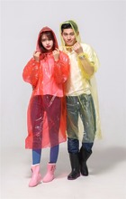 Cute Plastic promotional rain poncho for women and men