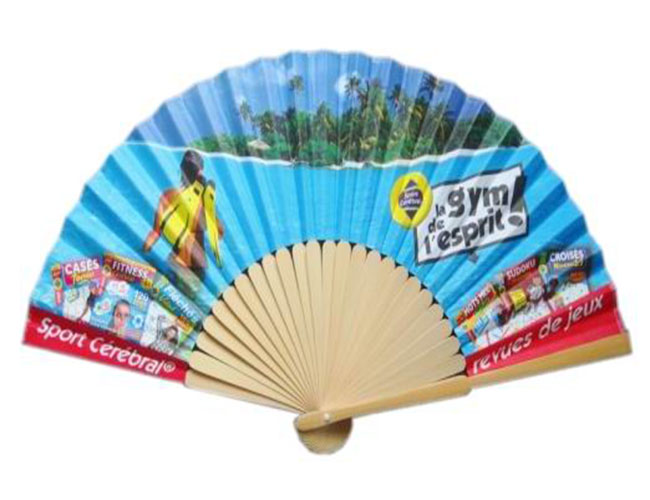 Promotional paper Fan with Customized Logo