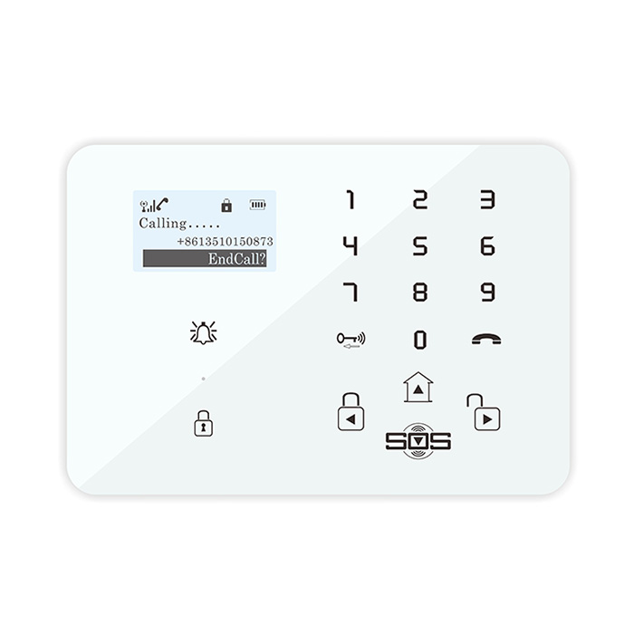home and office security intruder alarm with gsm communicator K8