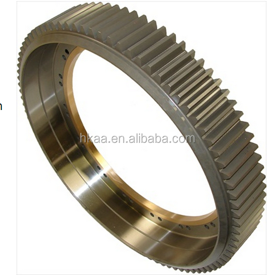 china high quality special custom mechanical stainless steel rotating gear ring