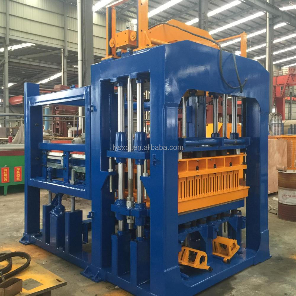 Giant block workshop solution QT10-15 muti-purpose manual interlocking brick making machine