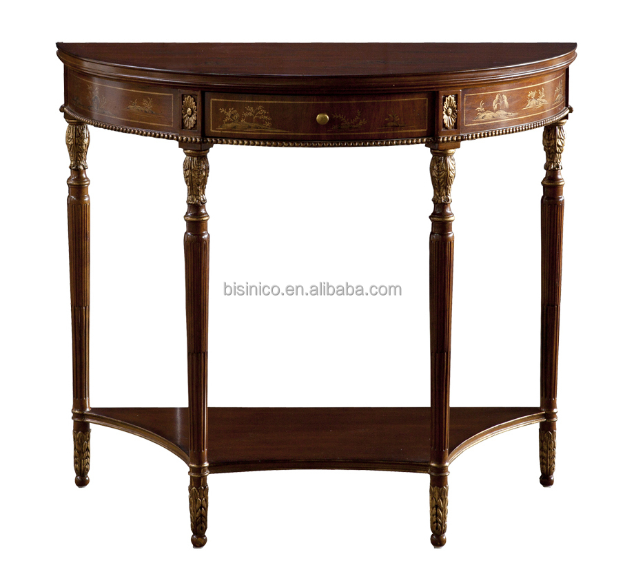 Classic american style solid wood semi circle hand carved American classic furniture company