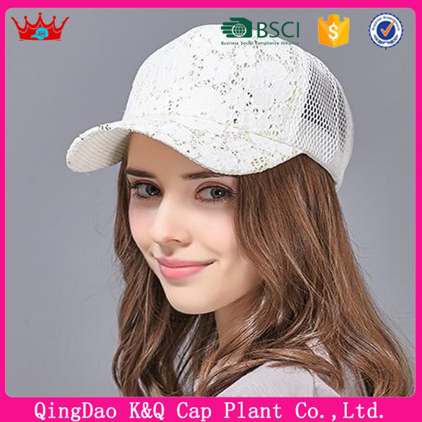 Fashionable baseball lace beautiful hats for girls