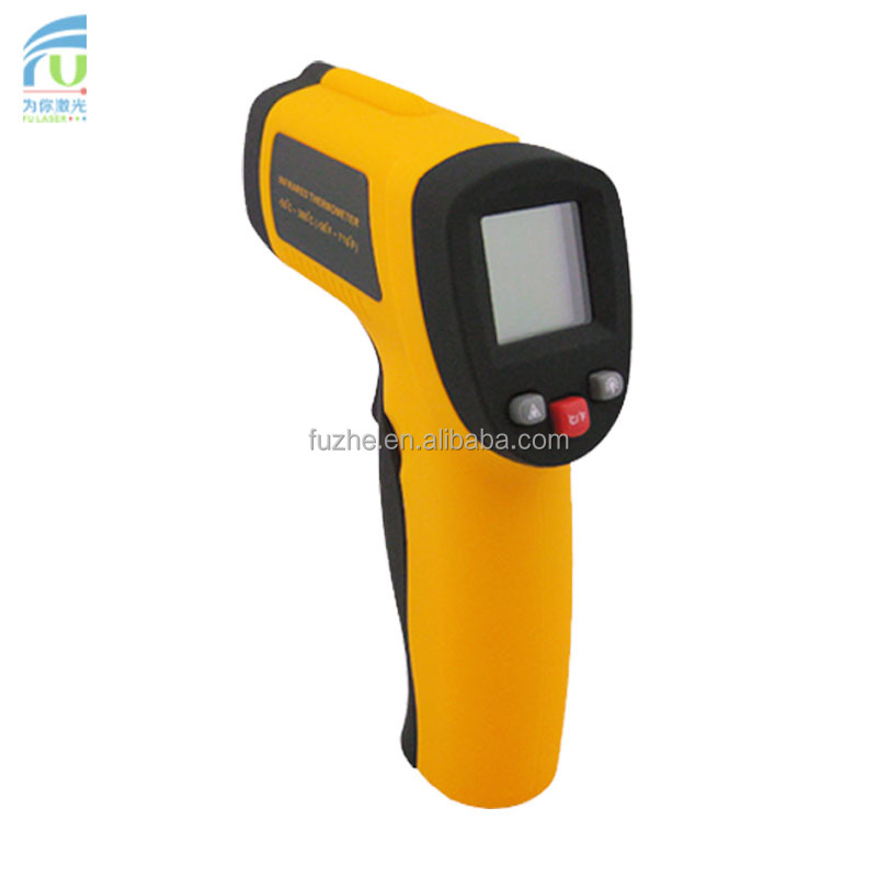 FU-IT380 -50~+380C digital infrared ir thermometer non contact with backlight, <strong>C</strong>/F choose
