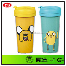 14 oz hot sale double wall bpa free plastic advertising tumbler with lid