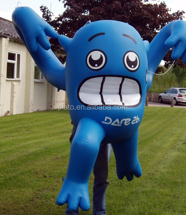 High quality giant inflatable promotion cartoon characters,inflatable blue cute cartoon