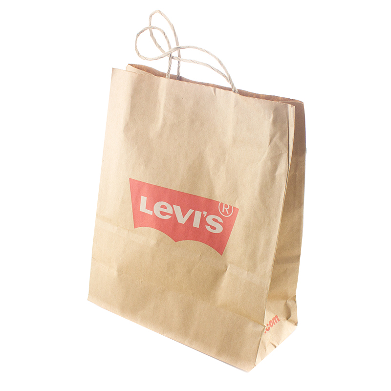 Hot Customized Logo Tote Kraft Paper Bag for Packing