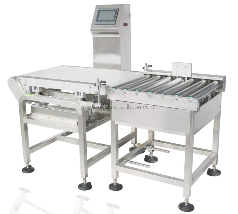 Automatic check weigher system for snack food flour products,dried fruit,vegetables ,chemical materials