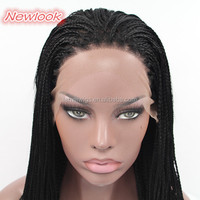 A0010 braided wigs for black women very long synthetic hair lace front wigs