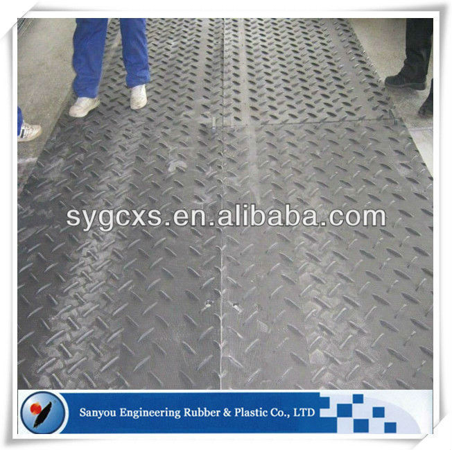 Lightweight HDPE instant roadway Supply antiskid rubber diamond plate