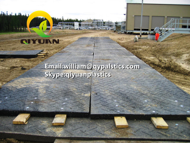Wear resistant and anti impact uhmwpe temporary road mats and hdpe ground mats
