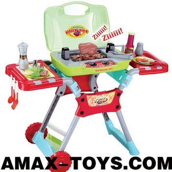 ht-238850A toys barbecue set Children pretend toys emulational barbecue pushcart