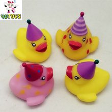 Best selling toys kids led flashing light rubber toys colour changing led light duck toys