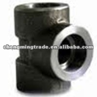 Forged carbon Steel Threaded/Socket weld Tee //pipe fitting
