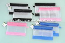 Cute PVC mesh pencil case bags