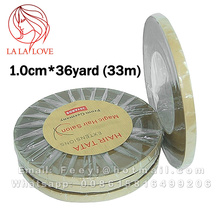 1 roll 1.0cm*36yard (33m) Hair TATA extensions tape For Lace front toupee tape Magic Hair Salon from Germany 4 Moths more time