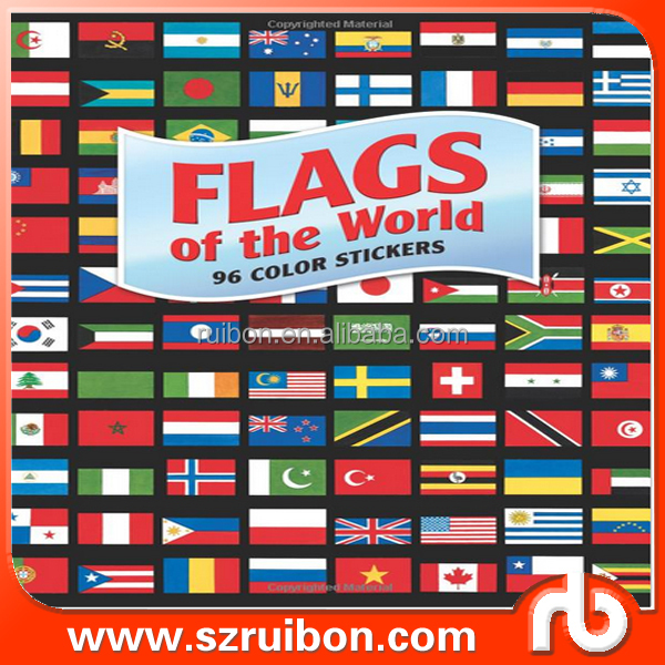 Free printable national flags stickers, private sticker flag