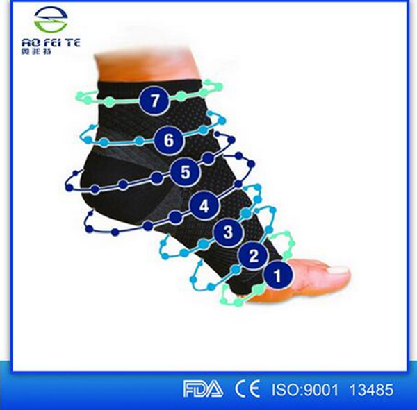 2016 Aofeite Plantar Fasciitis Socks Foot Care Compression Sock Sleeve with Arch & Ankle Support