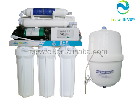 6 Stage Reverse Osmosis Water Filter System , Drinking Water Filter With Micro Computer Controller