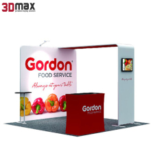 modern portable aluminum foldable exhibition beauty booth design 3mx3m