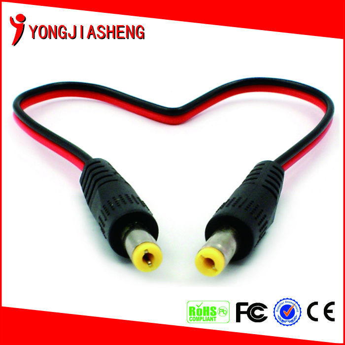 Free Shipping Dual DC-<strong>M</strong> Connector Power Cable/DC Male to Male Power Cable