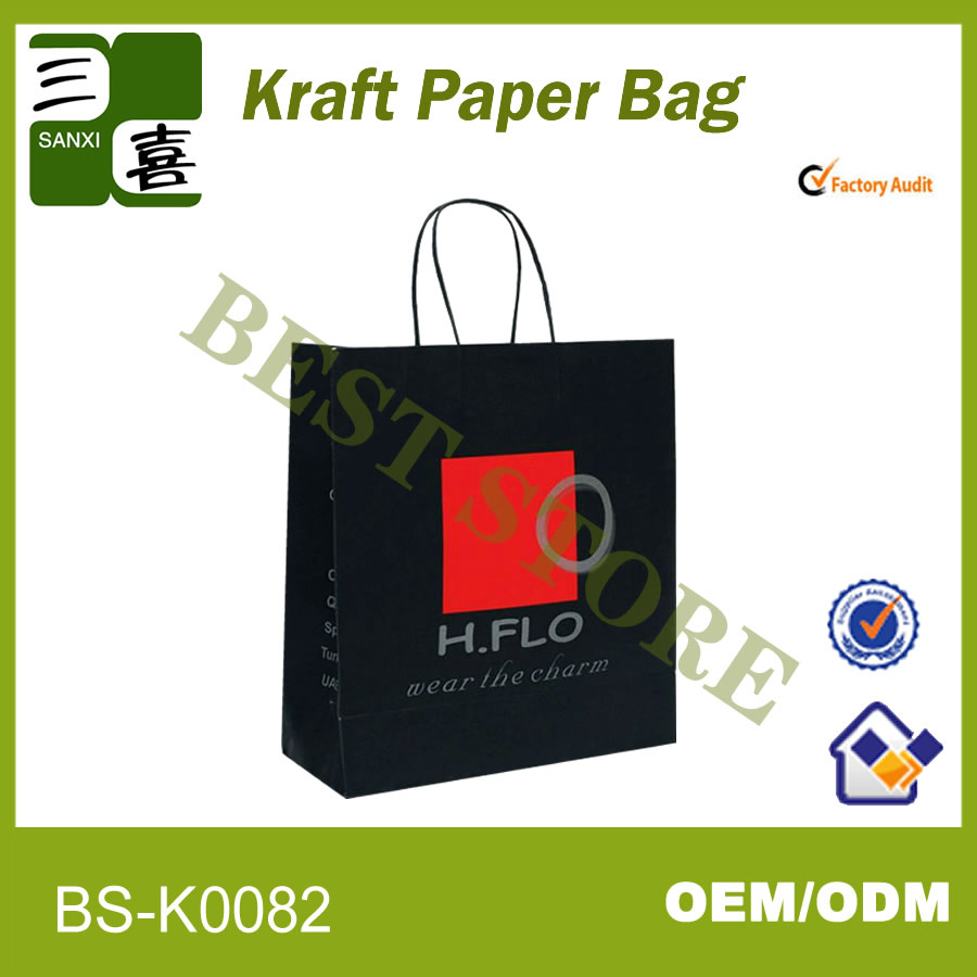 Fashionable and popular paper shopping bag/clothes packaging bag