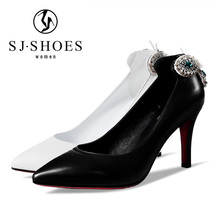 5483 Spring summer white ladies wedding Shoes High Heel Woman Pumps