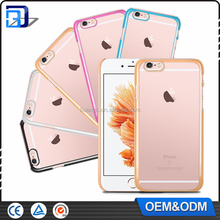 2016 high quality transparent ultra-thin plating plastic hard case for iPhone 6S electroplating PC case china supplier