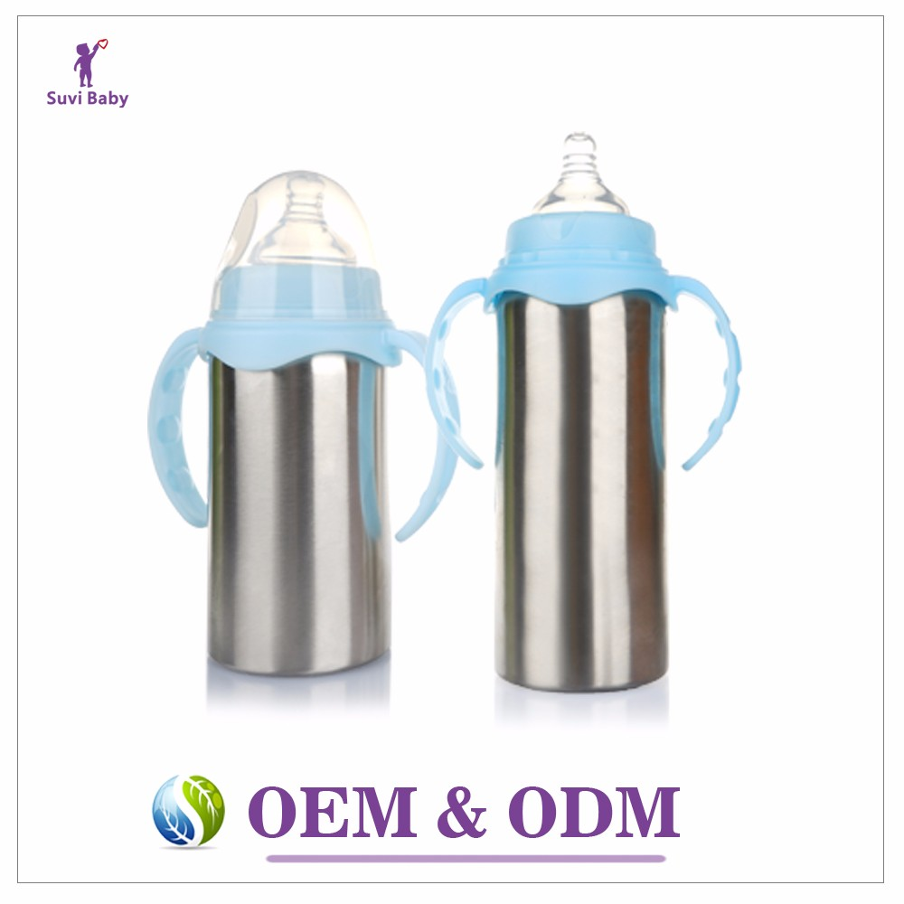 China guangzhou manufacturer baby thermos stainless steel vacuum flask baby bottle