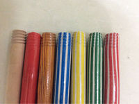 KEGO Eucalyptus colorful pvc coated wooden broom stick ( contact@kego.com.vn)