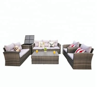 Cheap Sofa Double Deck Bed Rattan Outdoor Furniture Set