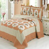 Windmils pattern design bedspreads cotton bedroom patchwork quilt