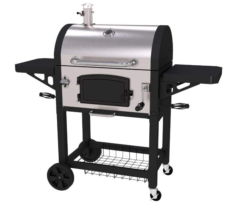 Heavy Duty Charcoal Barbecue : Heavy duty stainless steel bbq barbecue charcoal grills
