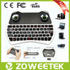 illuminant multimedia keyboard with earphone and mic for smart tv