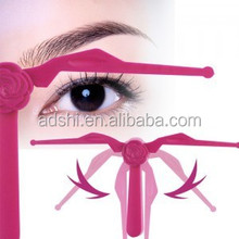 High quality professional plastic flexible eyebrow template eyebrow shaping tool