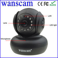 Wanscam Wifi wireless PT Audio SD Card Recording P2P small video Camera