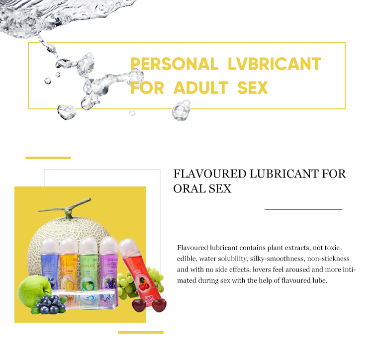 Flavoured Lube Clear Water Based Personal Sex Lube, Lubricant
