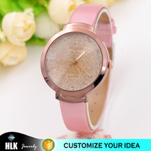 New Trend Design Quartz Fashion Hand Shiny Watch For Girl