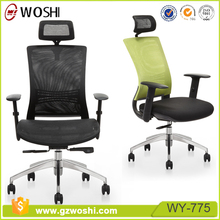 Woshi High end Ergonomic Office Chair, High Back Mesh computer chair Adjustable Headrest Armrest