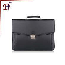 Custom Men's Cheap Portable Lawyer Genuine Leather Business Padfolio Waterproof A4 PU Leather Briefcase