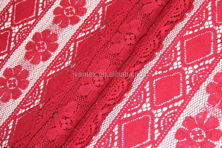 Fashion 30%Nylon/70%Cotton Crochet Lace Fabric for Lady