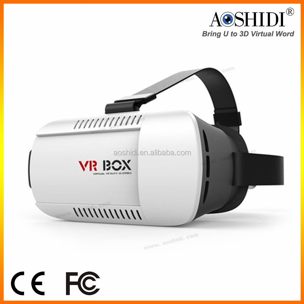 2016 whole sale high tech vr box 1.0 3d virtual reality glasses sex mp4 player video glasses